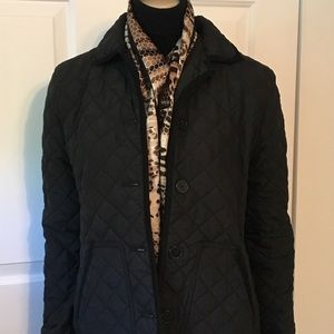 Chaps Little Black Quilted Jacket